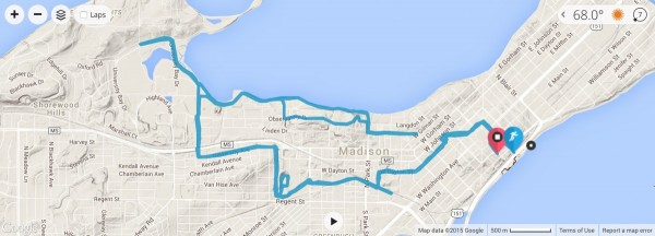 The run course was a bit annoying with all the u-turns.