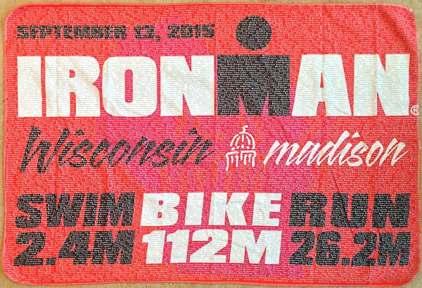 Cool towel with every racer's name